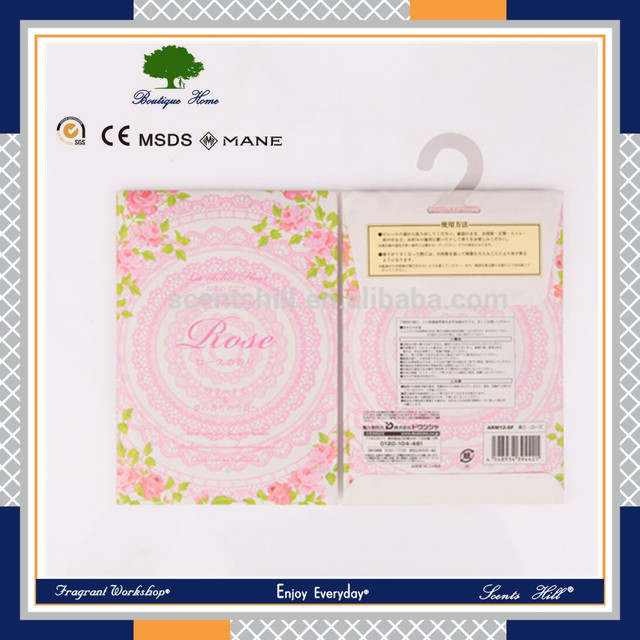 Saleable household appliances Hanging scented sachet /promotional gift cosmetic sample aroma sachet