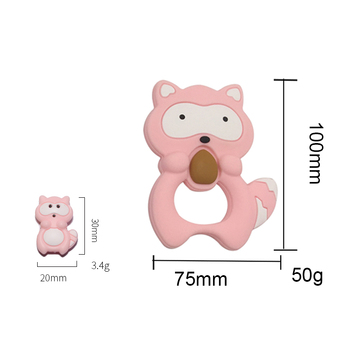 Raccoon Shaped Soft Animal Silicone Baby Teether
