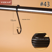 Yidear 3x15cm S Shaped Metal Hooks for hanging clothes hanger Metal lengthened S shaped hook
