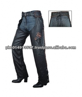 (Super Deal) BPC-901 Leather Motorbike Chaps, Leather Biker Chaps