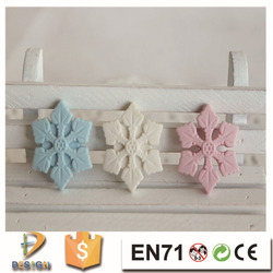 Wholesale newest products on china market 3d christmas gift snowflake shape rubber eraser for promotion