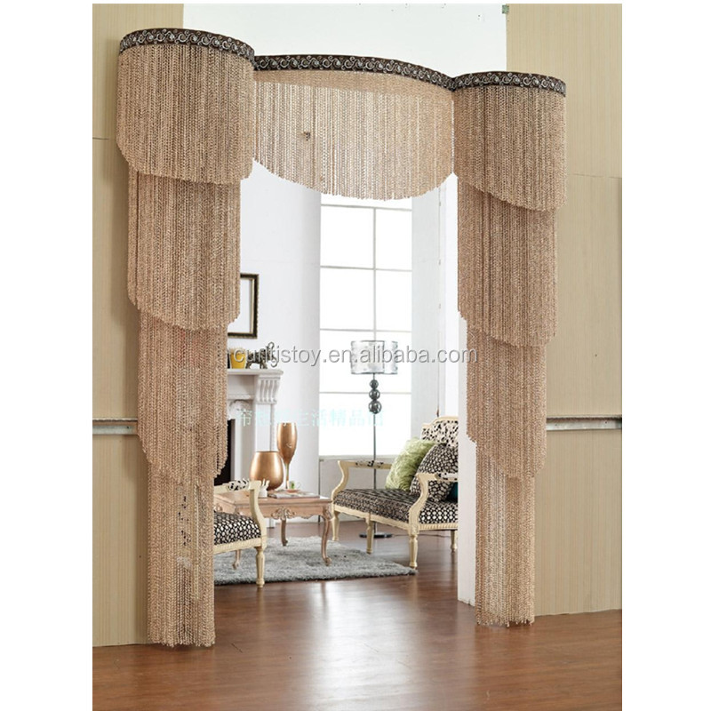 1mx2m European and American style curtain models threaded string zhejiang textile home door ready-made curtains