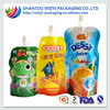 factory supply customized high quality Juice Drink Spout Pouch Bag For Liquid Food Packaging Bag With Spout