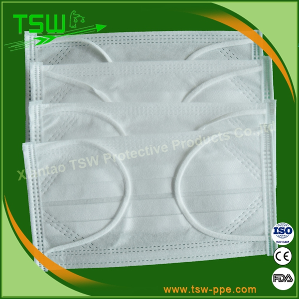 BFE 99% 3ply pp face mask with ties