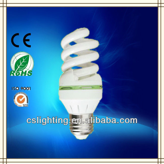 Full spiral T3 3.0T E27 9W dia46mm energy saving bulb