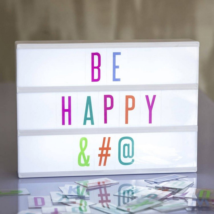 Customized Cinema Style and Free Combination Decoration Light Box with 85pcs Replaceable Letters