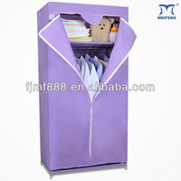 Simple Portable Folding Canvas Fabric Wardrobe