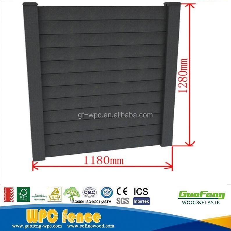 Decorative Easily Assembled WPC fence Wood Plastic Composite Garden Fence Panel