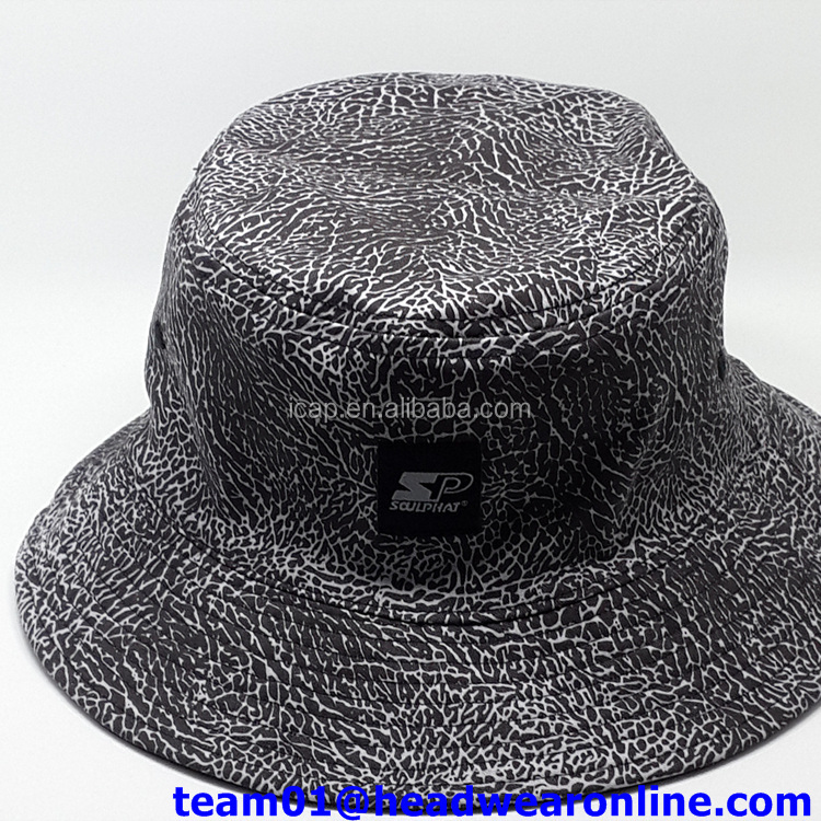 Wholesale Flower Custom Printed Bucket Hats