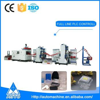 Disposable container production line plastic thermoforming machine