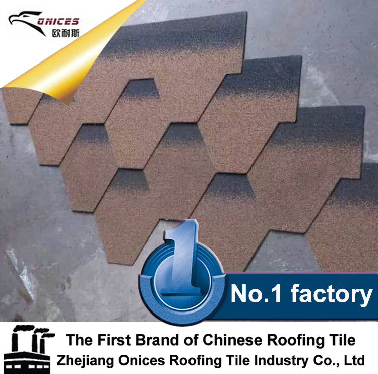 ONICES Fiberglass Asphalt shingle, Low price colorful aluminum zinc stone coated metal roofing shingle tile