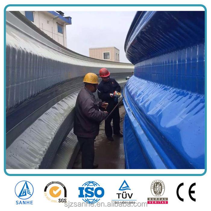 Prefabricated steel space frame arch roofing for warehouse