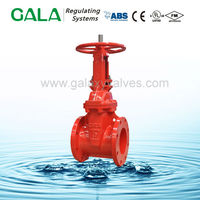 FM UL Approved asme double flange rising stem water gate valve