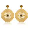 925 Gold Vermeil Lemon Topaz Gemstone Dangler Earring, Silver Jewelry Wholesale