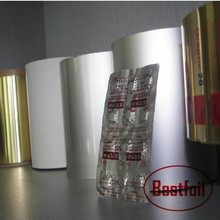 Pharmaceutical use alu PE composited strip foil sealing for pill capsule packaging aluminum foil