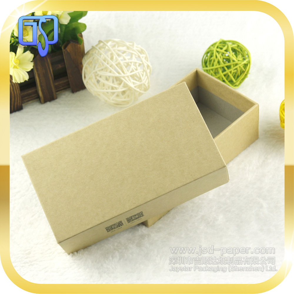 Wholesale cardboard box custom recycled brown kraft paper box for electronics packaging