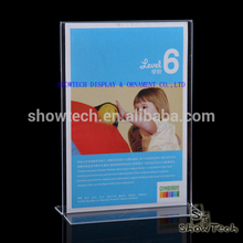 Vertical paper display stand , clear acrylic a4 a5 paper holders display stand
