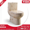 Chaozhou wood grain siphonic eddy flush one piece toielt mute toilet commode