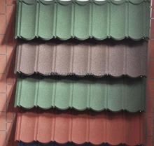 Colorful stone-coated metal roofing