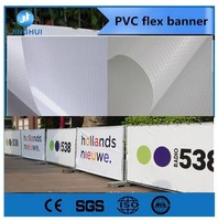Double sides printed street pole display banner flag, Outdoor custom vinyl banner