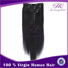 New Products On China Market Soft Remy 120G 16Inch Cheap Price Virgin Indian Hair Clips In