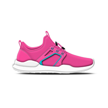 Custom logo printing womens pink flexble light weight sport shoes