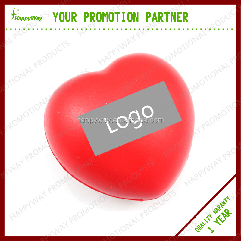Promotional Heart Shape Stress Ball 0101002 MOQ 100PCS One Year Quality Warranty