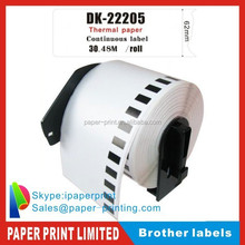 brother Compatible Thermal barcode label roll adhesive DK-2205 DK 2205 DK2205
