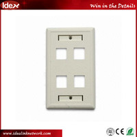 Best price high quality US type single /multi port ABS plastic wall faceplate