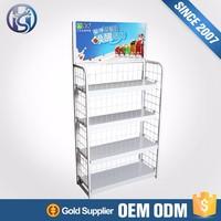 bakery furniture iron wire mesh display racks store showcase HS-ZS9