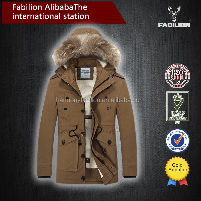 High quality China factory european fashion thicken Wool collar for man winter jacket