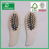 2 x Wooden Massage pocket wooden hair comb Brush Purse Size perfect for pocket book and Travel