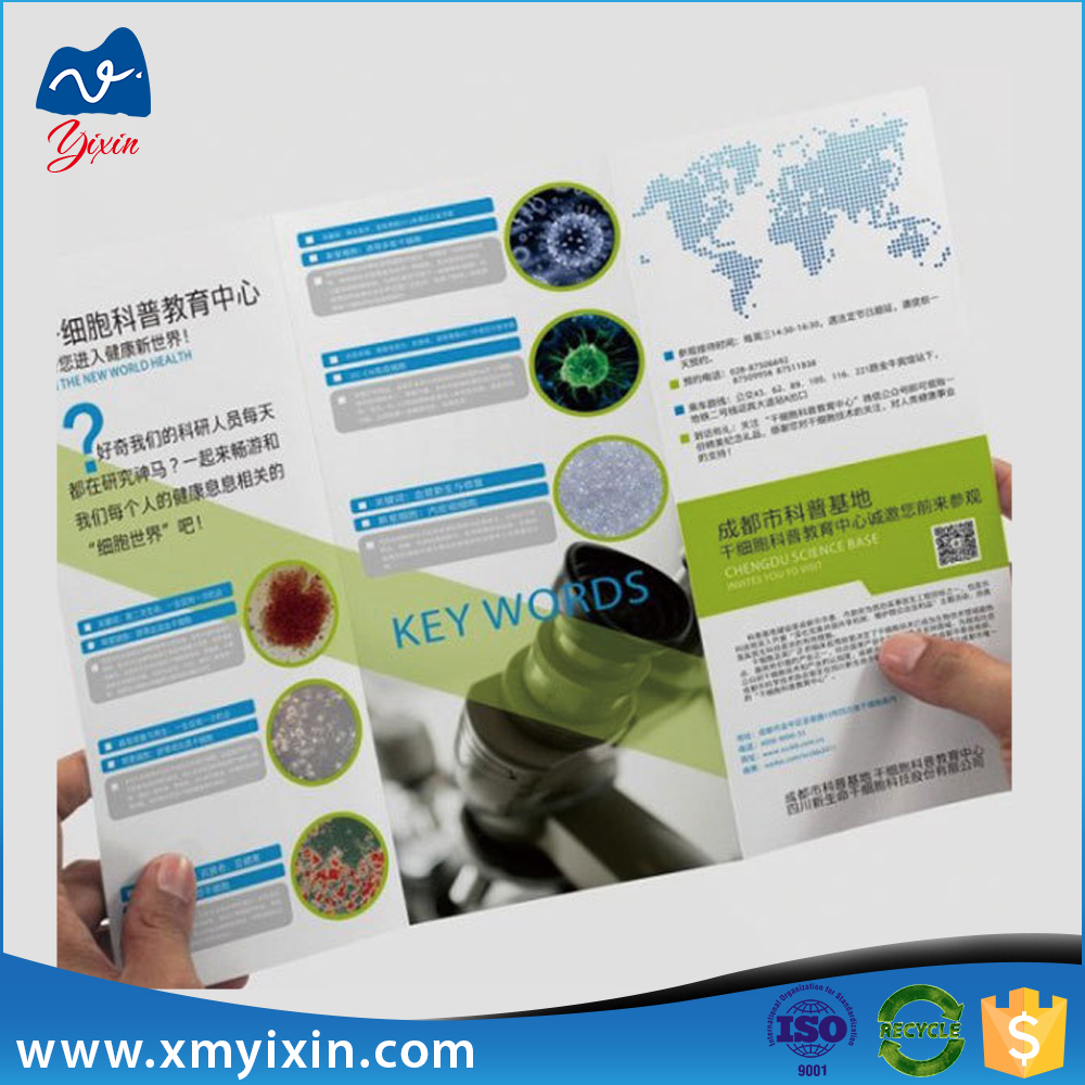 High quality custom offset folded map printing