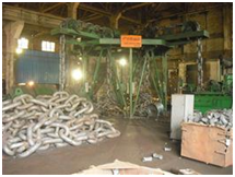 Stud Link Anchor Chain and Anchors Inspection in the Factory