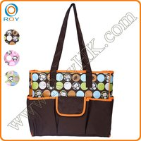2016 New desing tote diaper bag for mummy baby with change mat