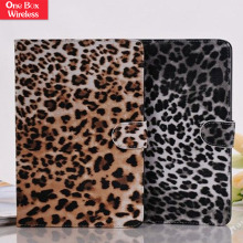 Factory In China For Ipad Mini 2 Fake Leopard Leather Wallet Case Flip Cover For Ipad Mini 2