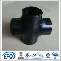 carbon steel pipe fitting butt welded equal cross sch40