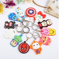 Cheap 3D soft pvc rubber key chain/keyring/ keychain/key covers