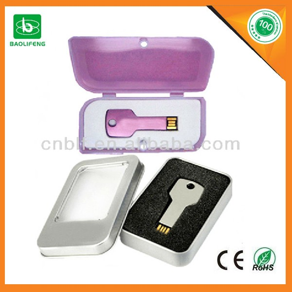 Hot selling metal key shape usb flash drive
