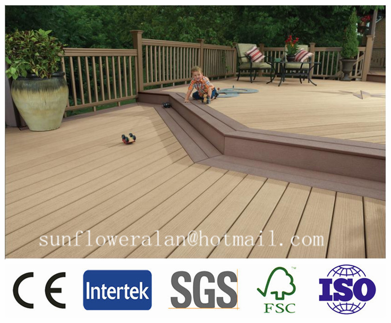 wpc outside deck wood plastic composite decking