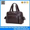 Suitable for man oem waterproof pu leather high quality luxury tote travelling bags middle PU duffel bag made in China factory