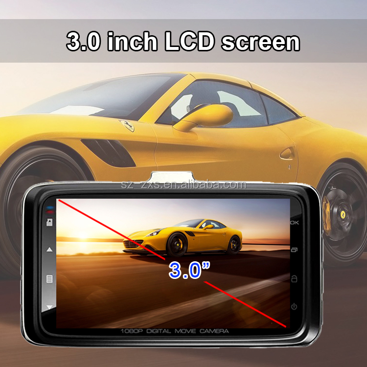 "FHD 1080P Car DVR Novatek 96223 / 96650 FHD 3.0"" LCD 6G 170 degree wide angle lens Car Camera ZXS-F10"