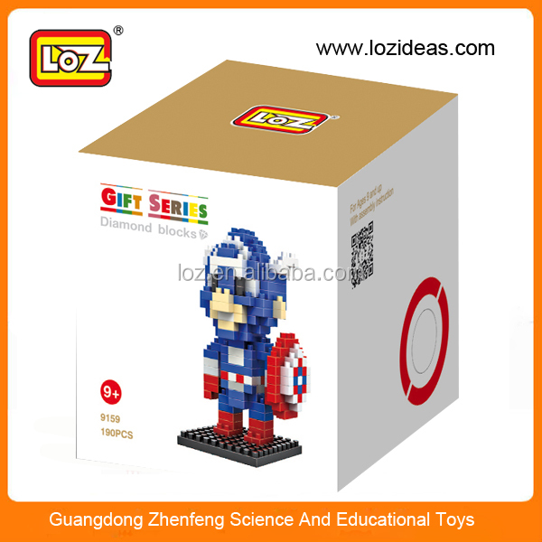 Creative Mini Small Particles Blocks Toys, Captain America Figure Diamond Blocks
