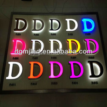 LED Illuminated Acrylic Letter