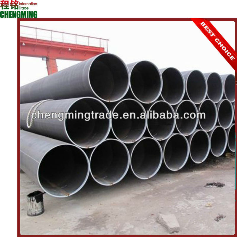 ASTM A53 Gr.B Big Outer Diameter ERW Black Carbon Steel Fluid Pipe and Tube,Tight tolerance, Smooth surface