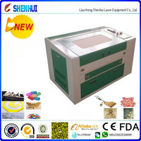 table top 3050 50w CO2 laser cutting engraving machine price (need agent) sofialiu@shenhuilaser.com