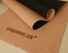 Cork natural rubber yoga mat high quality made in china factory price