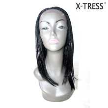20inch black silk straight lace front 100% high tempreture fibre 189g Wholesale fashionable ladies natural synthetic hair wig