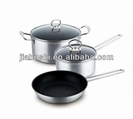 Sanding Polish with Non-Stick Coating Frying Pan Saucepot and Stockpot Sets