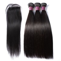 7A Free Shipping 8 Inch Lace Closure 10 12 14 Inch Virgin Brazilian Unprocessed Hair